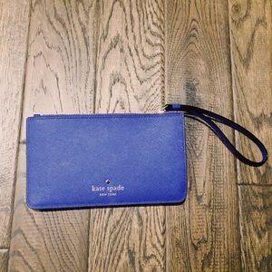 Kate space royal blue clutch/wristlet